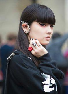 Kozue Akimoto before Undercover Paris Fashion Week 2014 Spring Summer #PFW