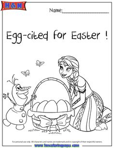 Anna Olaf Egg Cited For Easter Frozen Coloring Page Frozen Coloring Pages Easter Coloring Pages Frozen Coloring