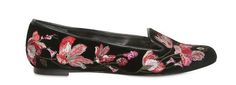 Alexander McQueen Women's Floral Embroidered Loafers | UpscaleHype