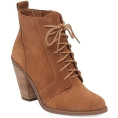 Jessica Simpson Channie Suede Booties ($129) ❤ liked on Polyvore featuring shoes, boots, ankle booties, brown, suede boots, brown suede booties, lace up booties, lace up boots and brown booties