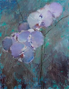 Morning Orchid by Bart Lindstrom Oil ~ 14 x 11