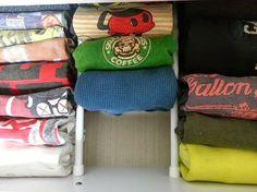 同じ色のTシャツも、一目瞭然!!Tシャツを取り出しやすくキレイに収納♪|LIMIA (リミア)