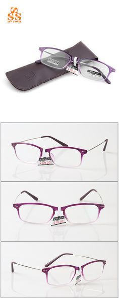 This is a reading glasses for the elderly, its quality is very good, the dioptre it can provide is below: +1.0,+1.5,+2.0,+2.5,+3.0,+3.5,+4.0 SUN-STONE Women Purple Frame Anti-fatigue Anti-radiation Slim Aspheric Hard Resin Lens Presbyopic Reading Glasses Eyewear.G607 US $11.20 / piece