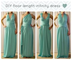 DIY Infinity Dress. More patterns and DIY on this site.