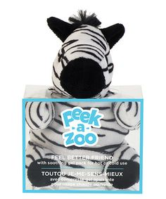 Look what I found on #zulily! Zebra Feel Better Plush & Gel Pack #zulilyfinds