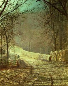 Sunshine through winter trees - John Atkinson Grimshaw