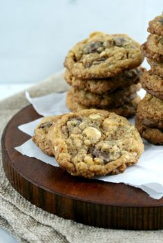 Toffee and Double Chocolate Cookies