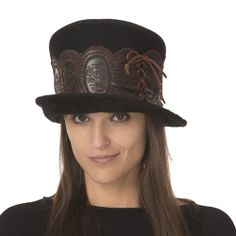 Christine A. Moore Ally - Beaver Fur Top Hat