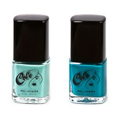 "Try out our summer fun Nail Lacquers ""Temptation and Tara"". Available at www.mycolecosmetics.com"
