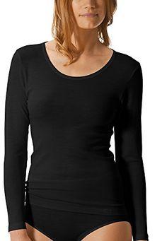 ae1b5536b0 Mey Basics Primera Damen Shirts 1/1 Arm Schwarz 38. edler Mix aus reiner  Schurwolle und Viskose. Rundhalsausschitt mit Mey-Logo Band. leicht und ...