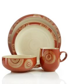 denby dinnerware fire chilli 4 piece place setting