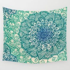 Buy Emerald Doodle by micklyn as a high quality Wall Tapestry. Worldwide shipping available at Society6.com. Just one of millions of products available.