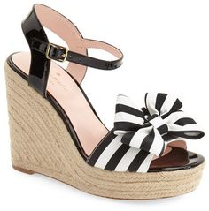 68d42d9c8a4a kate spade new york  iballa  grosgrain bow wedge sandal (Women ...