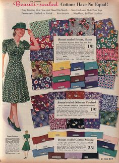 @Charlotte Carnevale Dymock, this instantly made me think of you. #vintage #1940s #fabrics
