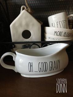 Rae Dunn Inspired Vinyl Decal, OH....Good Gravy,  Gravy Boat Decal by SouthernDunn on Etsy https://www.etsy.com/listing/533009395/rae-dunn-inspired-vinyl-decal-ohgood