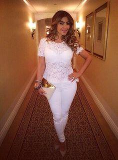 Larsa Pippen all white