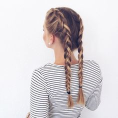 clean dutch braids. pinterest: louisaramirezz