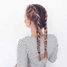 clean dutch braids. pinterest: louisaramirezz