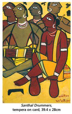 Jamini Roy's Art in Retrospect Madhubani Art, Madhubani Painting, Worli Painting, Fabric Painting, Indian Folk Art, Indian Artist, Indian Art Paintings, Modern Art Paintings, Om Namah Shivaya