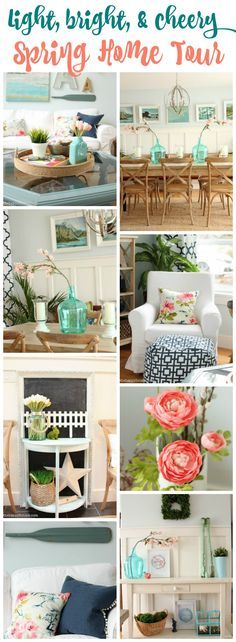 You'll love this light, bright and cheery Spring Home Tour at the happy housie