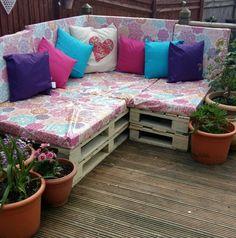 Pallet sofa #garden #pallets
