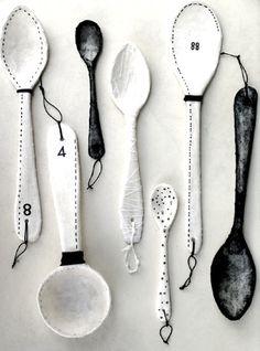 inspiration to make ceramic spoons
