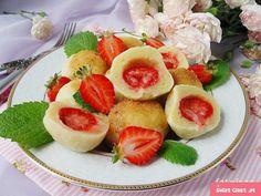 Knedle ziemniaczane z truskawkami