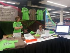 Amazing volunteers helped sell shirts and spreas the word about Imagine No Malaria at the Iowa Annual Conference