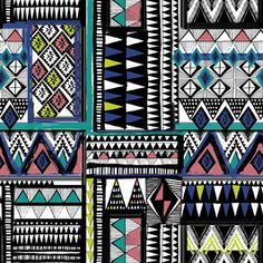 Tribal Patchwork by Shveta Maini Seamless Repeat Royalty-Free Stock Pattern Tribal Patterns, Print Patterns, Repeating Patterns, Decoupage, Design Inspiration, Design Ideas, Projects To Try, Royalty, Patches
