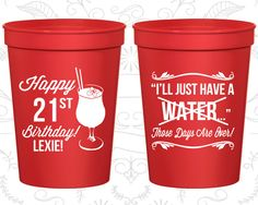 21st Birthday Party Cups, Cheap Plastic Party Cups, Finally Legal Cups, Happy Birthday Cups, Birthday Party Cups (20096)