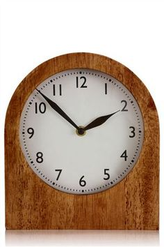 Wooden Arch Mantle Clock
