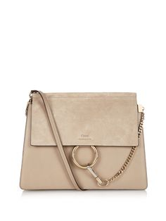 Faye leather and suede shoulder bag | Chloé | MATCHESFASHION.COM