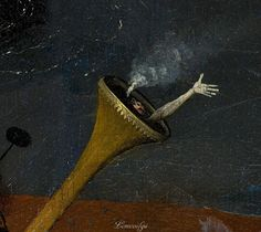 Bosch, Hieronymus The Garden of Earthly Delights, right panel - Detail c.1500—1510 oil, panel Prado, Madrid