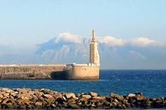 The most southern point of Europe! One of th Pillars of Hercules, Morocco in the background