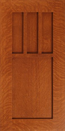 Stonefield S701 Design in Select / Premium Grade Quarter Sawn Red Oak - Applied Mullion (Muntin) Cabinet Door Style - http://www.walzcraft.com/product/stonefield-s701-craftsman-cabinet-door/