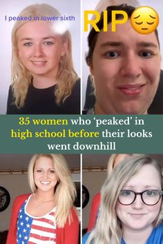 Looking at all these images was sad. Not because I had to look at and write about all these women who had lost their looks since high school.