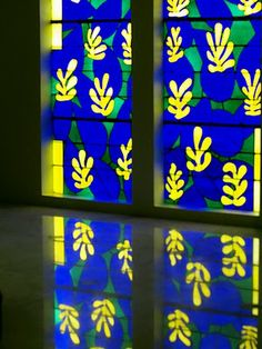 Stained Glass Window from the Matisse Chapel