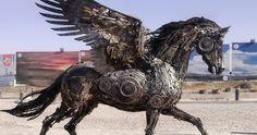 Steampunk Animal Sculptures Made Of Scrap Metal By Hasan Novrozi | Bored Panda