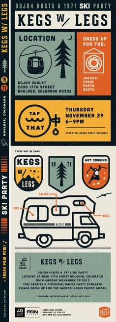 Kegs with Legs #21: Thursday 11.26.12 @ Dojo4 w/ 1971 Ski Party Theme - The Denver Egotist
