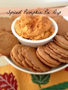 Easy Spiced Pumpkin Pie Dip ~ Pumpkin Pie without all the work ~ Farmer's Wife Rambles