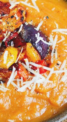 Cheesy Roasted Vegetable Soup