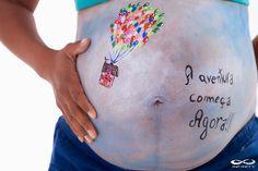 Folia Festa: Primeira pintura em barriga de gestante. Muita Emo...