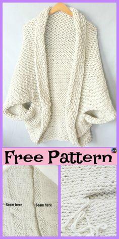 Beautiful Knit Blanket Sweater Free Patterns - DIY 4 EVER : 10 Beautiful Kni.Thanks for this Beautiful Knit Blanket Sweater Free Patterns - DIY 4 EVER : 10 Beautiful Knit Blanket Sweater Free Patterns Shrug Knitting Pattern, Sweater Knitting Patterns, Crochet Patterns, Knit Shrug, Crochet Shrugs, Vest Pattern, Free Knitting Patterns For Women, Free Pattern, Knitting Sweaters