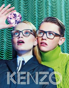 Kenzo Fall-Winter 2014 campaign by Toilet Paper Magazine (Maurizio Cattelan, Pierpaolo Ferrari and Micol Talso), featuring Guinevere Van Seenus Robbie McKinnon! David Lynch, Kenzo, Fashion Advertising, Advertising Campaign, Andy Warhol, Trippy Photos, Guinevere Van Seenus, Poster Design, Graphic Design