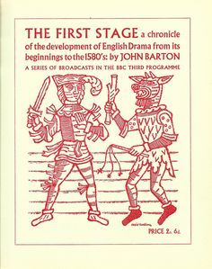 """BBC Third Programme """"English Drama"""" booklet cover, designed by Cecil Keeling, c1955 