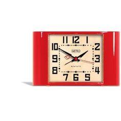 Newgate Metro Alarm Clock, Red, MMETRO28R