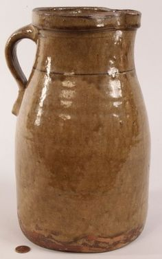 Alabama Alkaline-glazed Pottery Pitcher