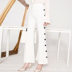 New Chic Womens Bell-bottom Trousers Retro Dress Elegant Wide Leg Long Pants Ch Yoga Pants Pattern, Bell Bottom Trousers, Gym Clothes Women, Yoga Pants Outfit, Fashion Now, Womens Fashion, Trends, Retro Dress, Fashion Styles