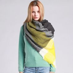Za Winter Brand Cashmere Scarf Women Blanket Scarf Plaid Wraps long Scarf  Women 2016 Pashmina Cashmere Shawls and Scarves tassel 0fa41f223a2
