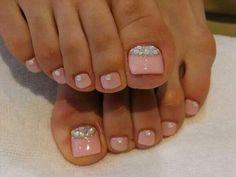 Pink w/ crystal half moon